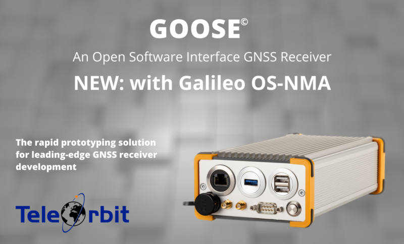 TeleOrbit's GOOSE© multi-GNSS receiver platform to support Galileo open service authentication (OS-NMA)